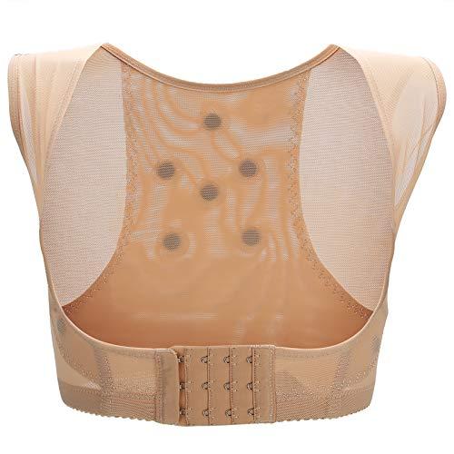 Corrector de postura, soporte para el pecho, chaleco moldeador de espalda, enderezador de hombro, soporte vertical para mujeres y hombres, corrección del cuerpo y alivio del dolor de cuello (S-piel)