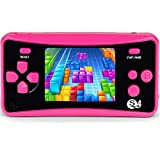 JJFUN Retro Handheld Game Console for Kids, Built-in 182 Classic Games Arcade Entertainment Gaming System, 2.5' LCD Portable FC TV-Out Video Game Player for Children-RED