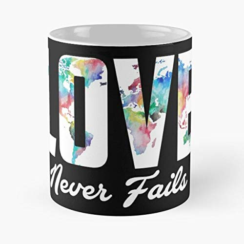 FISHOP Love Fails Map Never Lover World Continent Best Mug hält Hand 11oz aus weißer Marmorkeramik