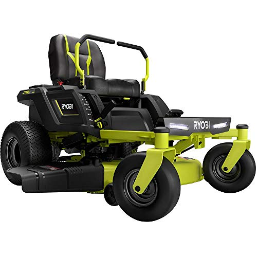RYOBI 42 in. 100 Ah Battery Electric Riding Zero Turn Mower RY48ZTR100