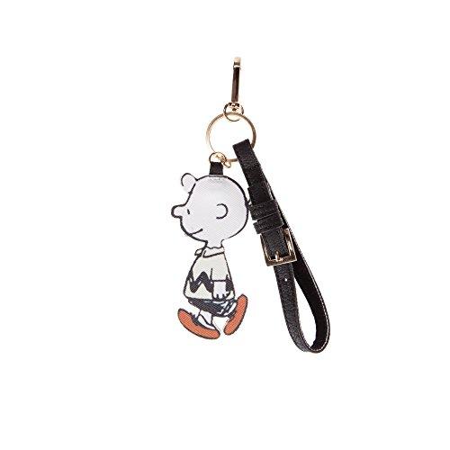 CODELLO Unisex-Erwachsene Keyholder Peanuts Schlüsselanhänger, Gelb (Off-White 17 17), 2x10x1 cm