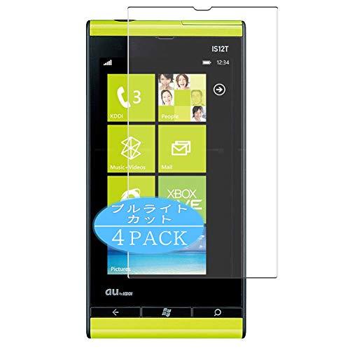 VacFun 4 Piezas Filtro Luz Azul Protector de Pantalla, compatible con Fujitsu Toshiba Windows Phone IS12T au, Screen Protector Película Protectora(Not Cristal Templado) NEW Version