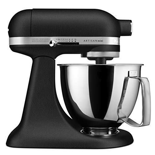 KitchenAid KSM3316XBK Artisan Mini Stand Mixers, 3.5 quart, Imperial Black