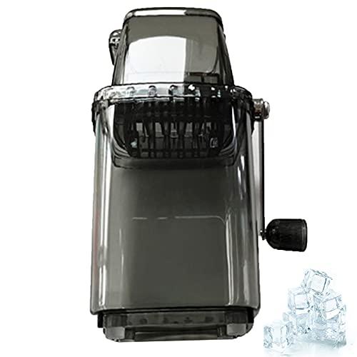 Máquina trituradora de hielo portátil, herramienta de cocina de la máquina de afeitar de hielo de manivela para el hogar (gris)