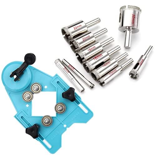 1 1PCS 6-3 0mm / 6-50mm orificio de diamante bit de taladro con orificio de orificio cortador de cortador de broca accesorio de jig para vidrio, porcelana, cerámica, piedra de granito (Color : 1#)