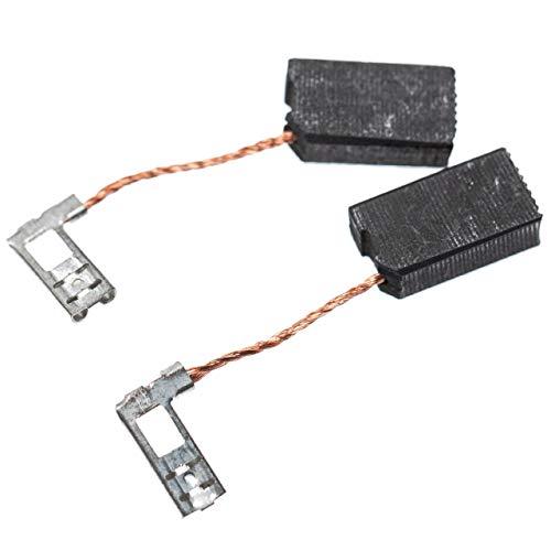 vhbw 2x escobillas de carbono 6 x 10 x 18mm compatible con Hilti TE 104, TE 14, TE 15, TE 15-C, TE 18-M, TE 24 martillo perforador