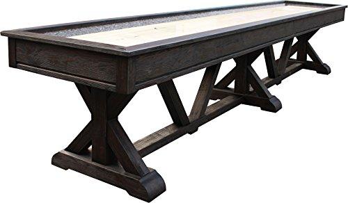 Playcraft Brazos River 14' Weathered Black Pro-Style Shuffleboard Table