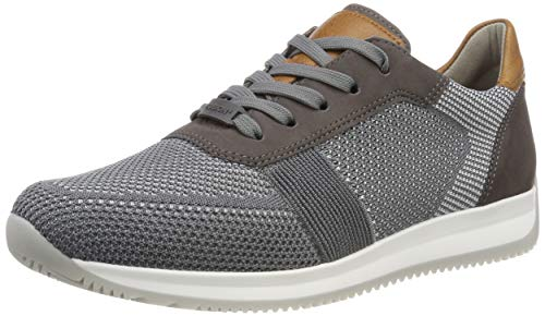 ARA Herren Lisboa 1136001 Sneaker, Grau (Grau-Hellgrau, Street/Cognac 14), 44 EU
