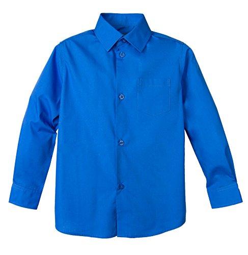 Camisa de manga comprida para meninos da Spring Notion, Cobalt Blue, 7