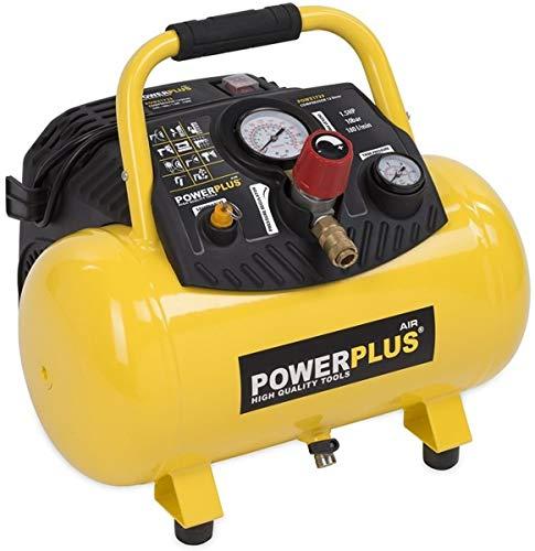 POWERPLUS POWX1723 POWX1723-Compresor 1100w 12l Sin aceite