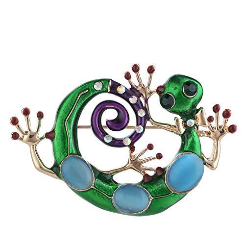 COJJ Elegante Broche Lagartija Retro de Diseño Broche Pin para Las Mujeres Señoras Niñas Accesorios cumpleaños Regalos joyería joyería