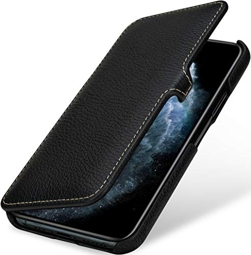 StilGut Book Hülle kompatibel mit iPhone 11 Pro Hülle aus Leder mit Clip-Verschluss, Klapphülle, Handyhülle, Lederhülle - Schwarz