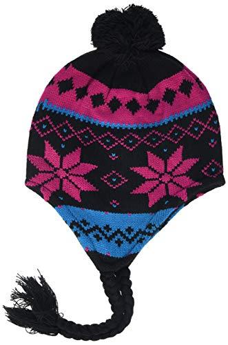 Urban Classics Norwegian Beanie 3 Bonnet, Multicolore (Blk/fuc/tu 00024), Taille Unique Mixte