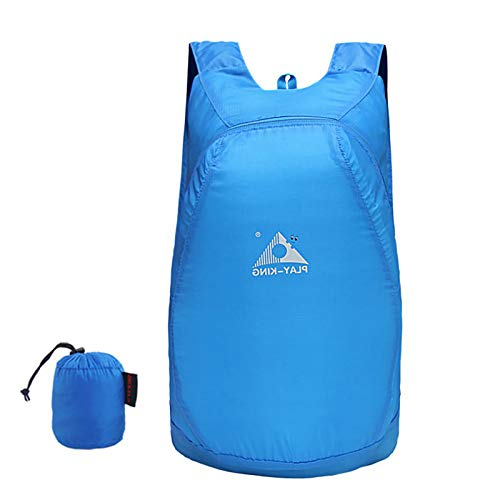 ZTLY 20L Ultra Lightweight Packable Backpack Water Resistant Hiking Daypack for Small Rucksack Handy Foldable Climbing Camping Outdoor Backpack Little Bag,Blue