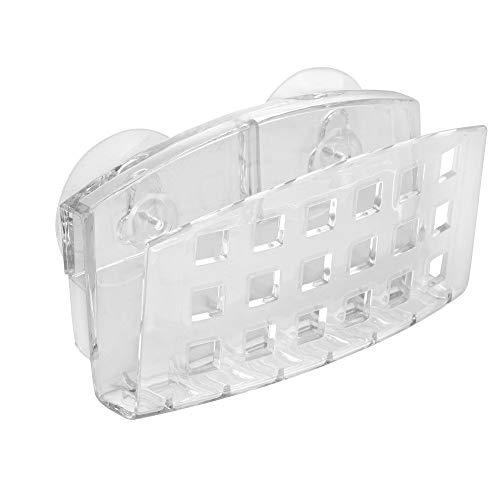 iDesign Suporte de sucção para pia de cozinha Sinkworks para esponjas, esfregões, sabão – transparente