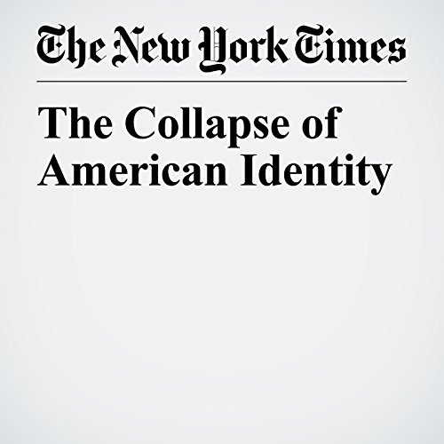 The Collapse of American Identity copertina