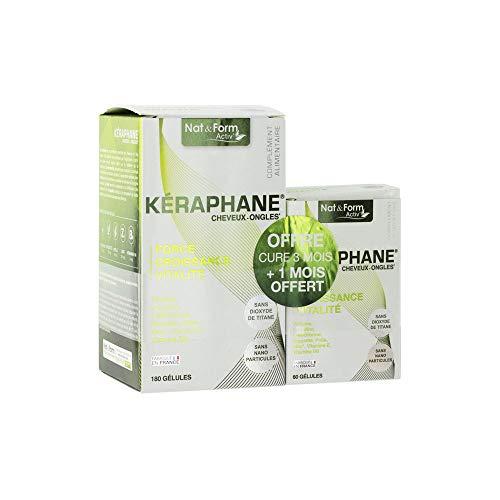 Nat & Form - Keraphane 180+60 Gelules Cheveux Et Ongles Nat&form