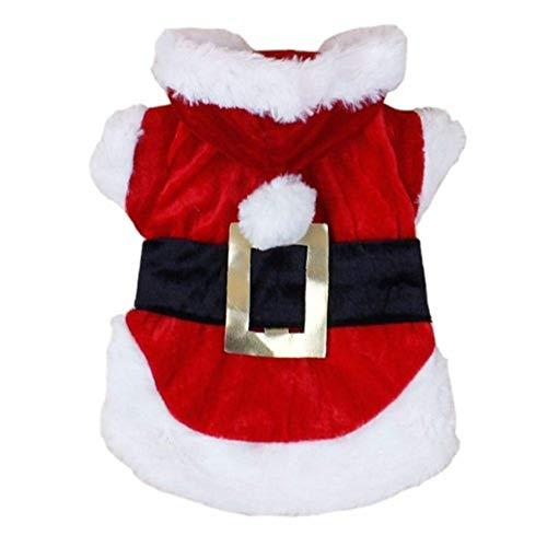 Zonfer 1pc Ropa para Perros Navidad para Perros Pequeños Perro De Santa Invierno Traje De Un Pelo De Caniche Yorkies Chihuahua Ropa Ropa del Gato