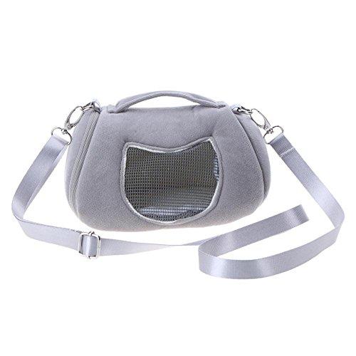 Demiawaking Tragbare Schultertragetasche für Haustiere, Hamster, Ratte, Igel, Chinchilla, Frettchen, Tragetasche für Kleintiere