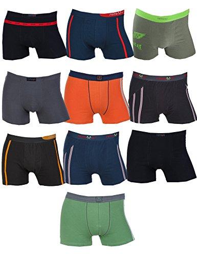 REMIXX 10 Retro Herren Boxershorts gemischt Farbmix Größe XXL