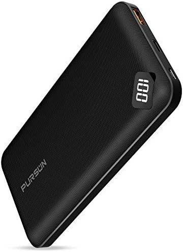 2020 Updated Ultra Compact 10000mAh Fast Charge Power Bank with Dual USB A and USB C Ports Portable product image