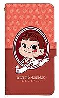 スマホケース 手帳型 aquos r shv39 ケース かわいい ペコちゃん キャラクター お菓子 0163-A. レトロペコちゃん shv39 ケース 手帳 アクオスアール カバー [AQUOS R SHV39] アクオス アール スマホゴ