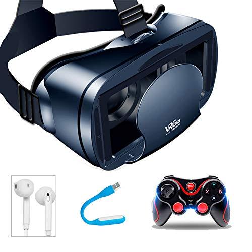 Gafas VR Box 3D Realidad Virtual Headset gafas 3D con el auricular de 5 a 7 pulgadas de teléfonos inteligentes Gafas VR Compatible con iPhone y Android Disfruta de los Mejores Juegos y Videos RV,1+3