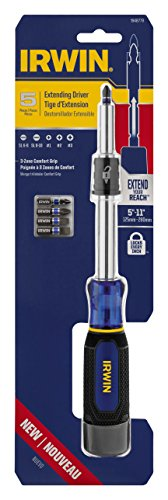 Irwin Tools 1948779 Extending Screwdriver with 5 Impact Bits