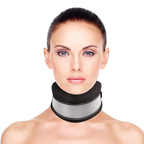 Healifty Halskrause Mensch - Verstellbarer Halskragen - Nackenstütze für Nackenschmerzen und Unterstützung - für Spondylitis und Schlafen (Schwarz)