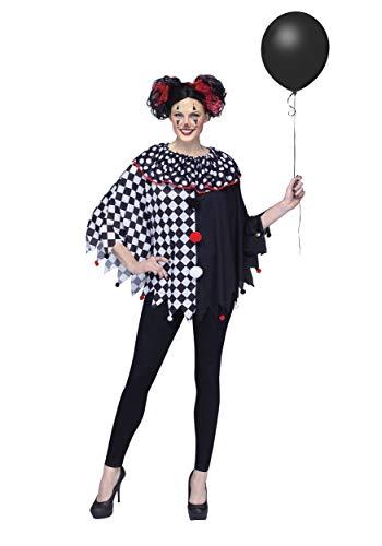 Fun World Women's Scary Clown Poncho Costume Standard