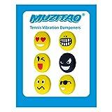 Ammortizzatori Anti-Vibrazione Racchetta da Tennis Con Emojis (Confezione da 6)