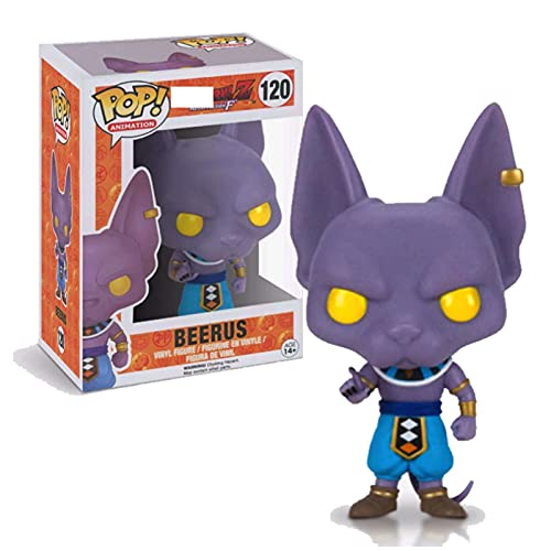 Pop! Vinyl Figures Animation-Dragon Ball Beerus #120 Action Figure, Pop Figures Model Collection Statue Toys For Children Anime Gifts 10Cm