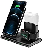 Hoidokly 3 in 1 Wireless Charger Qi Kabellose Ladestation Abnehmbare und Magnetische...