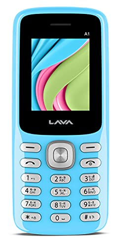 Lava A1(Candy Blue) -Dual Sim |Call Blink Notfication |auto Call recoding |Military Grade Certified with 4 Day Battery Backup (A1 2021)