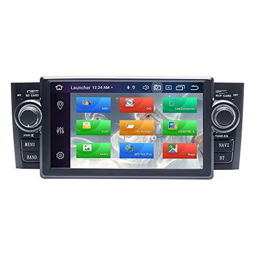 Radio para Coche Android, ZLTOOPAI para Fiat Grande Punto Linea 2007-2012 Android 9.0 Octa Core 4G RAM 64G ROM HD Pantalla Digital multitoque Auto Radio GPS estéreo