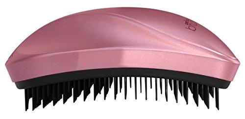 Cepillo de Pelo Profesional Desenredante Antitirones Pequeño y Compacto con Cerdas Suaves Rosa - Negro By AGV