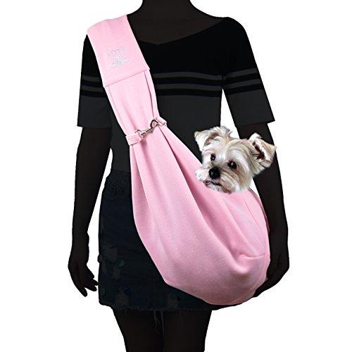 Alfie Pet - Chico Reversible Pet Sling Carrier - Color: Pink