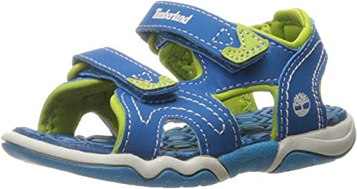 Timberland Timberland Unisex-Kinder Adventure Seeker 2 Strap Sandalen, Blau (Mykonos Blue), 36 EU