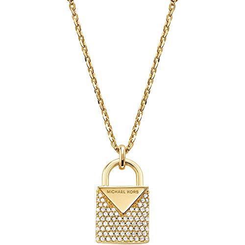 Michael Kors Damen-Kette 925er Silber One Size Gold 32001153