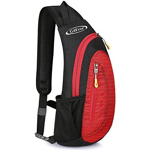 G4Free Leichte Brusttasche Sling Schulter Rucksäcke Nette Umhängetasche Dreieck Pack Rucksack zum Wandern Radfahren Reisen oder Multipurpose Tagepacks