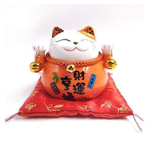 #1 Chat Fortune Feng Shui Maneki Neko Chat Chanceux Japonais Chat Agitant Bras Chat Bonne Chance Richesse Fortune Chats accueillants pour Le Bureau /à Domicile et la d/écoration Automobile