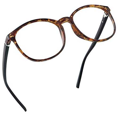 LifeArt Blaue Licht Blockieren Brille, Anti-Augen-Müdigkeit, Computer Lesebrillen, TV Brille für Frauen Männer (Schildpatt, Nein Vergrößerung)