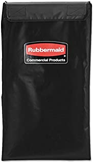 Rubbermaid 1881782 Collapsible X-Cart Replacement Bag, 4 Bushel, 220 Lbs, Vinyl, Black