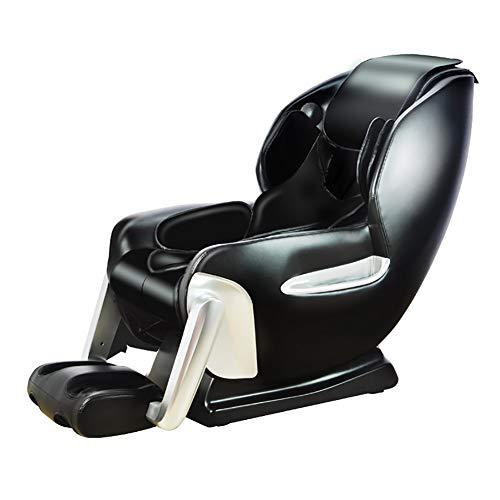 YS-S002 Poltrona da Massaggio, Poltrona a gravità Zero Automatica Multifunzione 4D massaggiatrice/Massaggio a Mano con Simulazione/con Altoparlante Bluetooth,Black