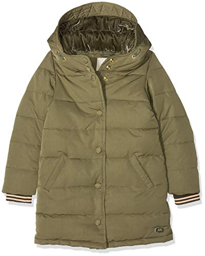 Scotch & Soda meisjes jas/jack Padded jacket with velvet hood lining in longer length
