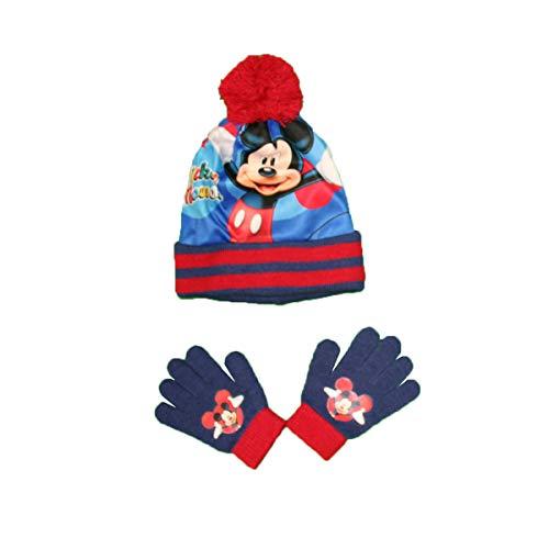 Set mit Mütze und Handschuhen für Jungen – Mickey Gr. One size, PONPOM ROUGE