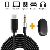 Type C Jack 3,5mm Cavo, YINSAN Adattatore USB C Maschio a Aux 3,5mm Stereo Car Headphone Audio Cavo con HIFI per iPad Pro 2018, Huawei P30 Pro P20 Mate 20 Pro, Xiaomi Mi 6 Mix 2S, Pixel 3/2 XL - 1,5M