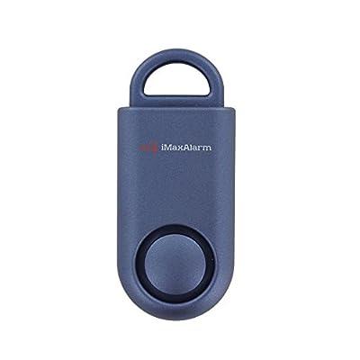 iMaxAlarm SOS Alert Personal Alarm - 130dB Alarm - Safety & Security Emergency Device - Matte Blue