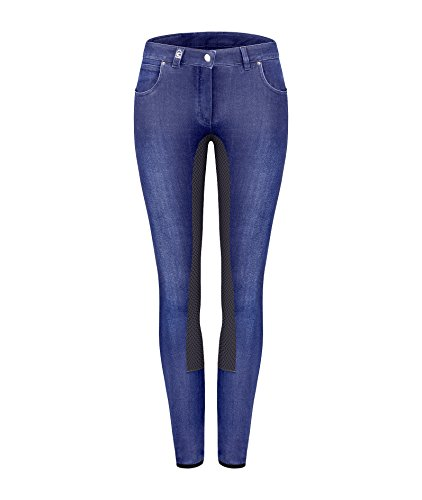 Cavallo Denim Reithose Caro Grip, Blue-darkblue, 40