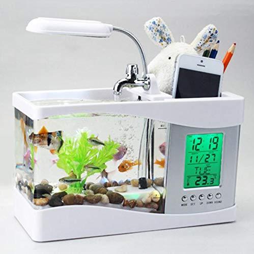 shulan shop kitchen USB Goldfischschüssellampe kleines multifunktionales ökologisches Aquarium